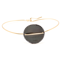Bracelet - Jonc Sublime Or Cercle Noir XL