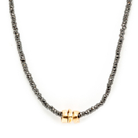 Collier Sublime Or Super Stone Noir
