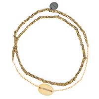 Bracelet Double Graphik Stone Galet Gold