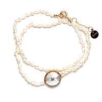 Bracelet Double Perles d'Eau Gold Rond