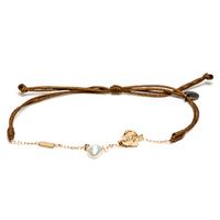 Bracelet Cordon Perle d'Eau Blanc