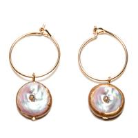 Boucles d'Oreille - Mini Créoles Perle d'Eau Gold Rond