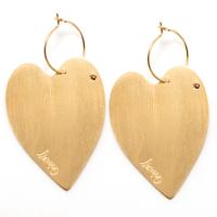 Boucles d'Oreilles - Mini Créoles Lov Coeur Gold XL