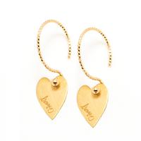Boucles d'Oreilles - Mini Créoles Lov Coeur Gold XS
