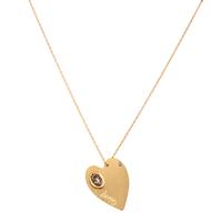 Collier Lov Coeur Gold M Email Pailleté