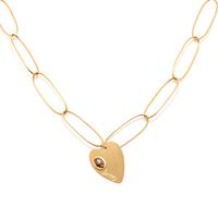 Collier - Sautoir Lov Coeur Gold M Email Pailleté