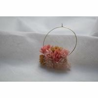 Boucles d'Oreilles - Créoles Flower Corail