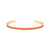 Bracelet Bangle Tangerine/ Orange Or
