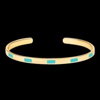 Bracelet Tempo Turquoise Or