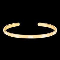 Bracelet Tempo Blanc Sable Or