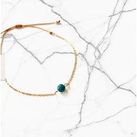 Bracelet Chaine Gold Apatite Bleue