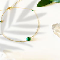Bracelet Chaine Gold Chrysocolle