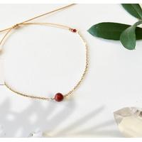 Bracelet Chaine Gold Grenat
