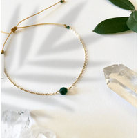 Bracelet Chaine Gold Malachite