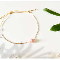 Bracelet Chaine Gold Opale Rose