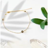 Bracelet Chaine Gold Quartz Fumé