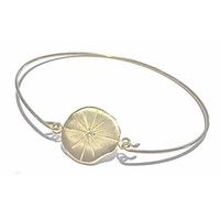 Bracelet - Jonc Médaille Cristaux Rose des Vents Or