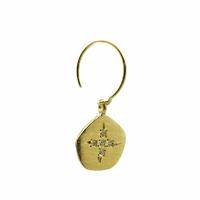 Mono Boucle d'Oreilles - Mini Créole Médaille Or