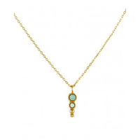 Collier Elisa Amazonite Or