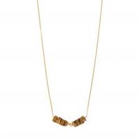 Collier - Ras de cou Oeil de Tigre Rondelles Gold