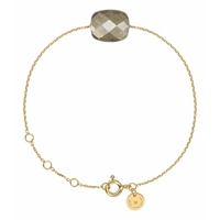 Bracelet Or Jaune Friandise Coussin Pyrite