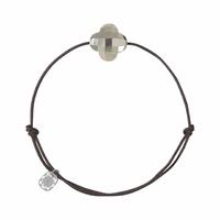 Bracelet Cordon Friandise Trèfle Pyrite