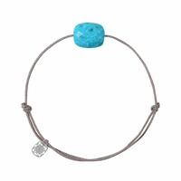 Bracelet Cordon Friandise Coussin Turquoise