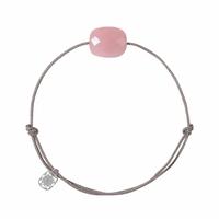 Bracelet Cordon Friandise Coussin Guava Quartz