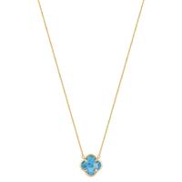 Collier Or Jaune Victoria Turquoise