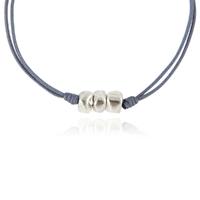 Bracelet Cailloux Cordon Gris