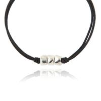 Bracelet Cailloux Cordon Noir
