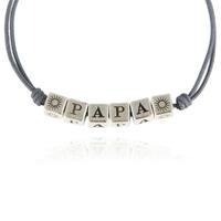 Bracelet PAPA Cordon Gris XL