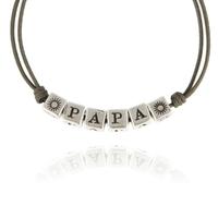 Bracelet PAPA Cordon Taupe XL