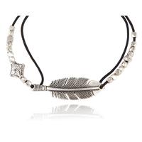 Bracelet Penna Plume Cordon Noir
