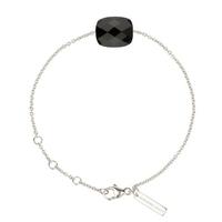 Bracelet Friandise Or blanc Coussin Onyx
