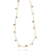Collier - Ras de cou Tangerine Orange/ Or