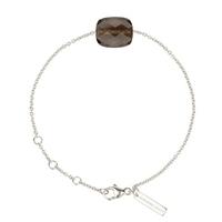 Bracelet Friandise Or blanc Coussin Quartz Fumé