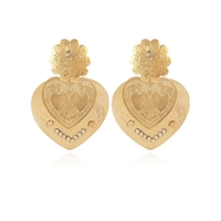 Boucles d'Oreilles Love GM Or