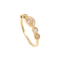 Bague Mina Oeil Cristal Gold