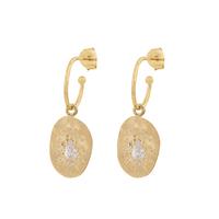 Boucles d'Oreilles - Créoles Felix White Gold