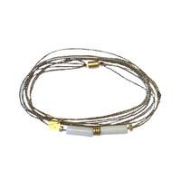 Bracelet - Multi Tours Nacre Tubes Gold