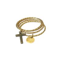 Bague Multi Anneaux Croix Gold