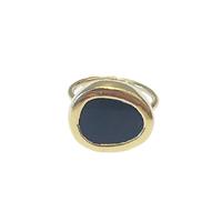 Bague Porto - Galet Ovale Onyx Gold