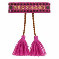 Bracelet Tissu WorldPass Wild Summer Fushia