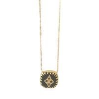 Collier Lagos S - Carrée Onyx Cistaux Gold