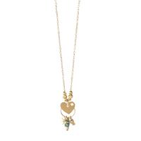 Collier - Ras de Cou Coeur Multi Pampilles Gold