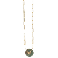 Collier Rond Large Turquoise Sauvage Gold