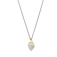 Collier Perle d'Eau Pépite Or