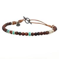 Bracelet Perles Turquoise & Oeil de Taureau