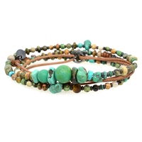 Bracelet Triple Turquoise Sauvage